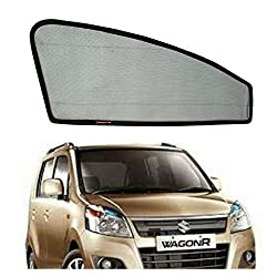 Commanders Club--Premium Quality Magnetic Sun Shades/Car Curtain For - Wagon R (OLD) - Set of 4 Pcs