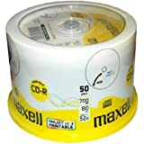 Maxell 50 x CD-R 700 Mo ( 80 min ) 52x support de stockage