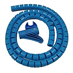 MX CABLE ORGANIZER CABLE MANAGEMENT WIREMESH EASY CABLE COVER 42MM - 1.5 METERS - MX 2696E - BLUE