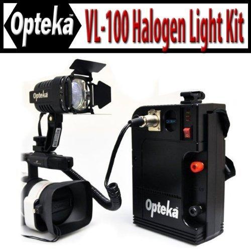 opteka-vl-100-100-watt-professional-halogen-camcorder-video-light-kit-with-12v-rechargeable-battery-