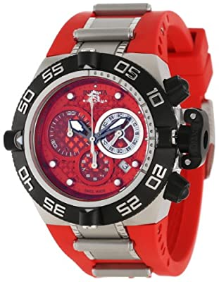 Invicta Men's 11508 Subaqua Noma IV Chronograph Red Dial Red Polyurethane Watch