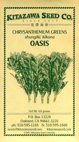 Honeyman Farms 2039 Chrysanthemum Greens Oasis Seed Packet