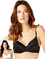 2 Pack Underwired Full Cup T-Shirt A-DD Bras