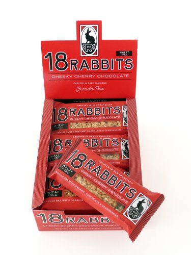 18 Rabbits Cheeky Cherry Chocolate, Gracious Granola Bars with Organic Cherries, Cranberries and Chocolate, 1.9-Ounce Bars (Pack of 12)