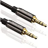deleyCON PREMIUM 7,5m HQ Stereo Audio Klinken Kabel - 3,5mm Klinken Stecker zu 3,5mm Klinken Stecker - METALL - vergoldet