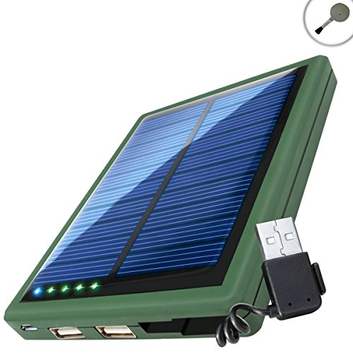 Revive 5000Mah Camping Charger & Solar Panel Backup External Battery Pack For Charging At The Beach, Lake, Forest, Desert, And More - Charges Smartphones, Tablets And Other Usb Rechargeable Devices