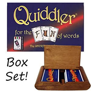 Quiddler Playing Card Game in Wooden Protective Box