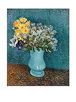 Legendarte Lienzo Vaso Di Lillà, Margherite E Anemoni di Vincent Van Gogh