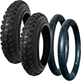 QUINNY BUZZ TYRE AND TUBE SET - CHUNKY OFF ROAD TREAD - BY HOTA