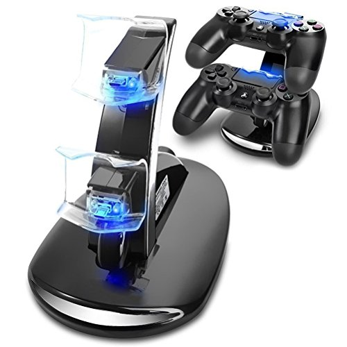 Playstation-4-Charger-CBSKY-Dual-USB-Charging-Charger-Docking-Station-Stand-for-Playstation-4-PS4-Controller
