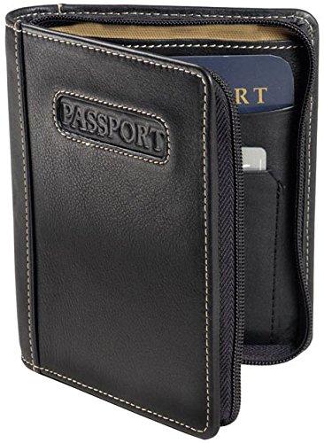 Winn-Napa-Leather-Deluxe-Zip-around-Passport-Case-Black-Brown
