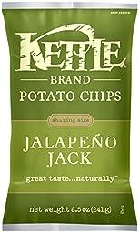 Kettle Brand Potato Chips, Jalapeno Jack, 8.5 Ounce (Pack of 12)