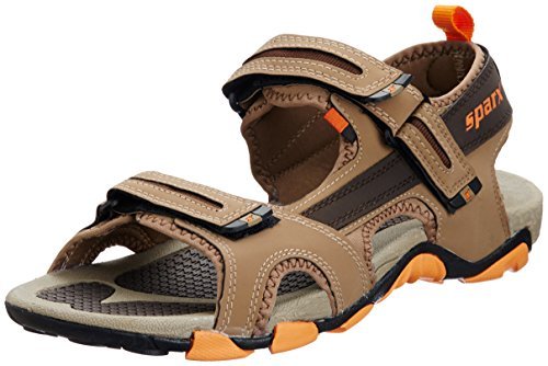 Sparx-Mens-Camel-and-Orange-Sandals-and-Floaters-10-UK-SS0429G