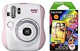 Fujfilm Instax Mini 26 + Rainbow Film Bundle - Pink/White
