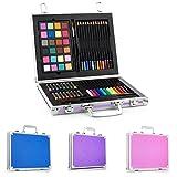 Gallery Studio - 69 Piece Deluxe Art Supplies Set in Purple Aluminum Case - (Quality Mediums Guaranteed)