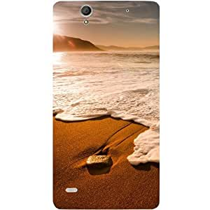 Casotec Sun Set Beach Design Hard Back Case Cover for Sony Xperia C4