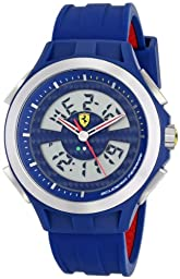 Ferrari Men\'s 830074 Analog-Digital Display Analog Quartz Blue Watch