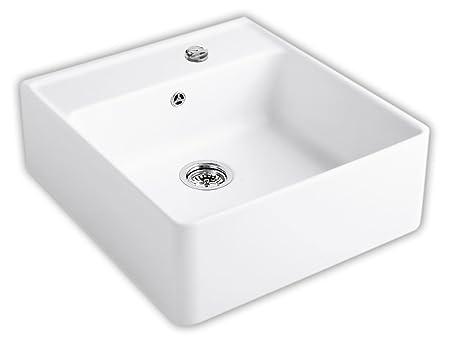 Villeroy Boch Made Single Bowl Sink / Wash &Edelweiss Aufsatzspule Kitchen Ceramic White