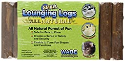 Ware Manufacturing Natural Pine Wood Lounging Pet Log for Small Pets, Small