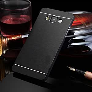 DENICELL Royal Brushed Metal Protective Back Case Cover For Samsung Galaxy J7 (BLACK)