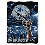 NFL Dallas Cowboys 60-Inch-by-80-Inch Plush Rachel Blanket, Sky Helmet Design