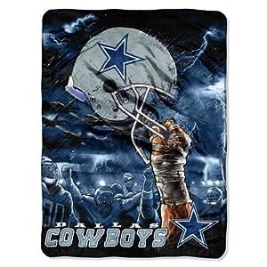 NFL Dallas Cowboys 60-Inch-by-80-Inch Plush Rachel Blanket, Sky Helmet Design by Northwest