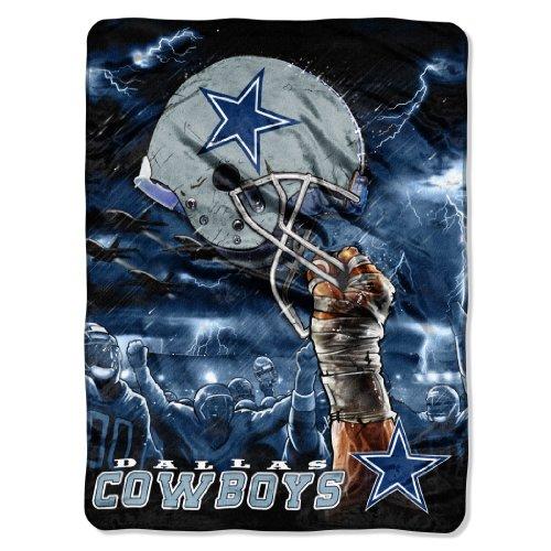 Nfl Dallas Cowboys 60-Inch-By-80-Inch Plush Rachel Blanket, Sky Helmet Design front-866852