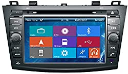 See Crusade Car DVD Player for Mazda 3 2010- Support 3g,1080p,iphone 6s/5s,external Mic,usb/sd/gps/fm/am Radio 8 Inch Hd Touch Screen Stereo Navigation System+ Reverse Car Rear Camara + Free Map Details
