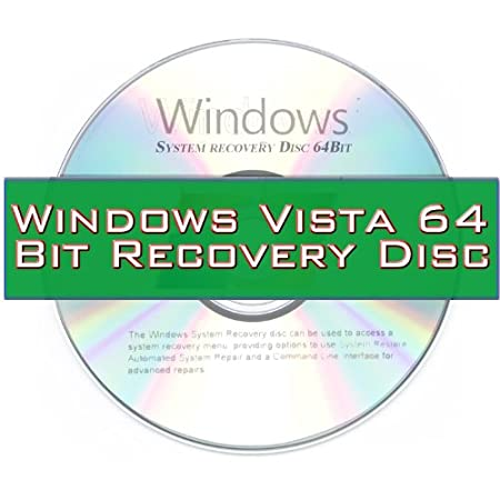 Windows Vista System Recovery disk Live Boot CD 64 bit DVD. (Disc is comparable with Home Basic, Home Premium, Business, and Ultimate)