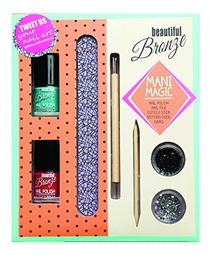 Sunkissed Beautiful Bronze Mani Magic Confezione Regalo 2 x 8ml Smalti + 5g Nail Gems + Lima Unghie + Cuticle Stick + Dotting Tool