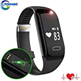 TOWABO Fitness Tracker With Heart Rate Monitor E3S Activity Watch Step Walking Sleep Counter Wireless Wristband...