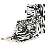 IPad Mini Case, E LV Apple IPad Mini Designer Flip Case Cover 360 Rotating Lightweight Zebra Flip Case For IPad...
