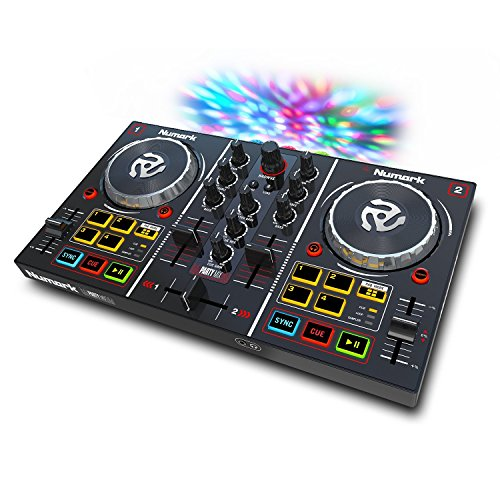 Numark Party Mix | Starter DJ Controller with Built-In Sound Card & Light Show, and Virtual DJ LE Software (Dj Mixers compare prices)