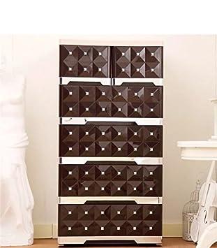 Commode marron pour la chambre, elle a 4 tiroirs grands et 2 petits, polypropylene plastique, caisson à tiroirs, meuble d' appoint, boîte de rangement cuisine, meuble salon ,container conteneur, cabinet, meuble salle de bain