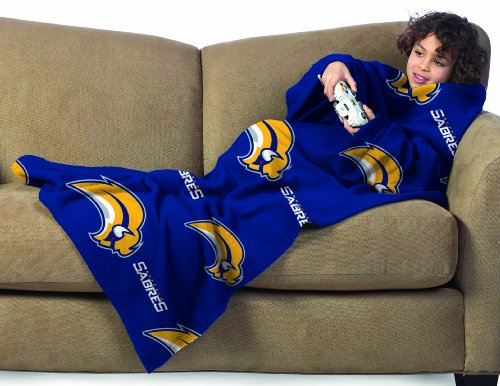 NHL Buffalo Sabres Youth Comfy Throw Blanket with Sleeves at Amazon.com