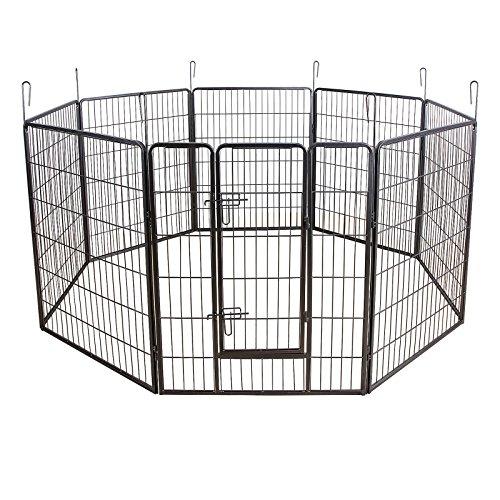 songmics-recinzione-recinto-per-cani-conigli-animali-di-ferro-100-x-80-cm-grigio-ppk81g