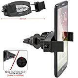 ChargerCity HD-6X 360° Rotation Portable GPS/ Smartphone Car Air Vent Holder Mount for Apple iPhone 6 5S Plus Google Nexus 4 5 6 Samsung Galaxy S6 S5 A5 Note 4 3 Edge Mega Fire HD HDX HTC ONE M8 M9 Motorola Moto X G Droid Turbo LG G G3 G4, Fits All Phone+