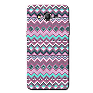 PINK & GREEN AZTEC PATTERN BACK COVER FOR SAMSUNG ON7