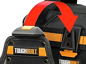 ToughBuilt TB-CT-150-3pc ClipTech Hubs - Rugged Steel Pivot Pins, 2 Screw Holes, Clips onto all ClipTech Pouches, Toolbelts, and Totes (Tamaño: 3pc ClipTech Hubs)