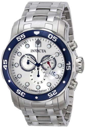 "Invicta 'Limited Edition' Men'S Ile0070Asyb ""Pro Diver"" Stainless Steel Dive Watch"