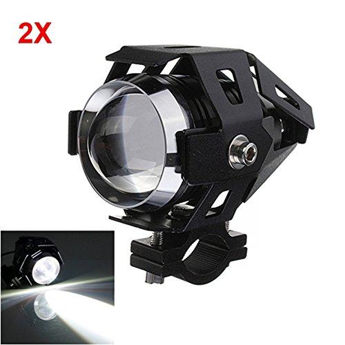 MyZenStore 2pcs U5 Motorcycle LED Headlight 3000LM Waterproof Hi/Lo High Power Spot Light (Gorilla Box Fan compare prices)
