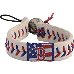 MLB Boston Red Sox Stars and Stripes Baseball Bracelet
