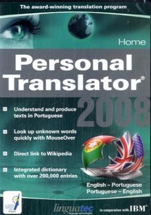 Personal Translator 2008 Home English - Portuguese