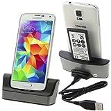 Dual USB Sync Station d'accueil Chargeur+Batterie Chargeur pour Samsung Galaxy S5 i9600 G900