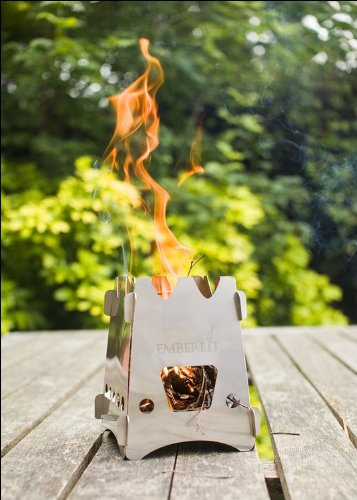 Emberlit Camping Stove - Stainless Steel  Cross