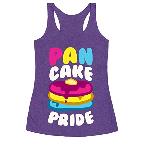 HUMAN Pan Cake Pride Purple Rush XL Racerback Tank Top