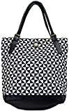 Bagabook, Classic and Sophisticated Liquorice Design, Tote Style Shoulder Bag w Double Handles