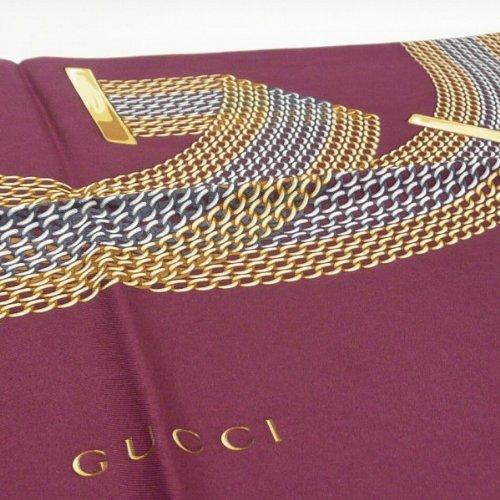 [GUCCI]グッチ スカーフ チェーンGG シルク100% 大判スカーフ GUCCI 231507-3G001-6175 [並行輸入品]