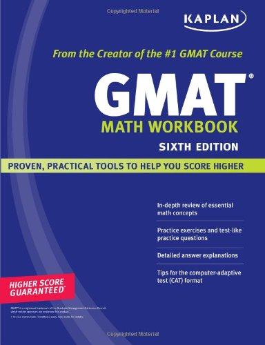 Kaplan GMAT Math Workbook: The staff of Kaplan Test Prep and Admissions