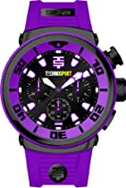 Technosport Stainless Steel Chronograph TS190-3 Purple Silicone Watch